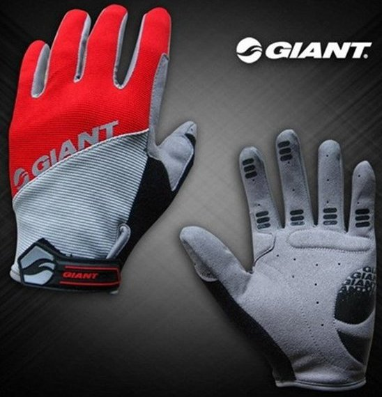 Велоперчатки GIANT Long Finger Glove (red)