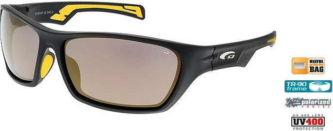 Очки GOGGLE Effron E118-4P (matt black/yellow)