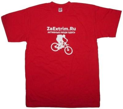 Футболка ZAEXTRIM.RU Bike (red)
