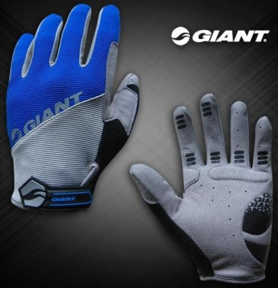 Велоперчатки GIANT Long Finger Glove (blue)