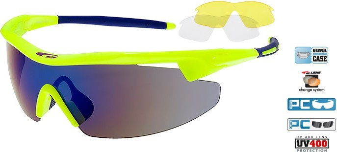 Очки GOGGLE Razor E690-2 (neon yellow/blue)