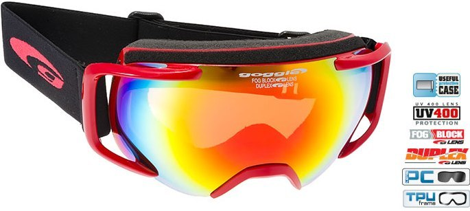 Маска GOGGLE Cosmo (red/fire mirror)