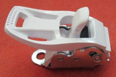 Бакля для сноубордических креплений алюминиевая передняя (белая)