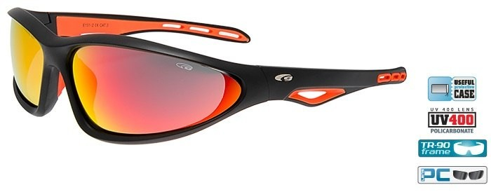 Очки GOGGLE Tucan E131-2 (matt black/orange)