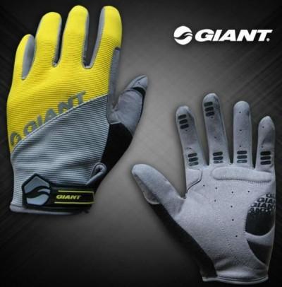 Велоперчатки GIANT Long Finger Glove (yellow)