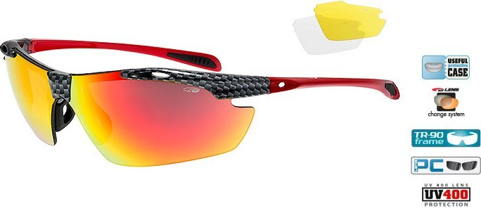 Очки GOGGLE Raven Race E721-3 (black carbon/red)