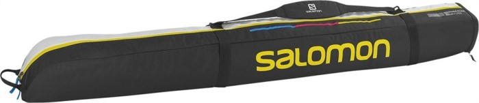 Чехол для горных лыж SALOMON 1 Pair 165+20 EXP Ski Bag (black/white/yellow)