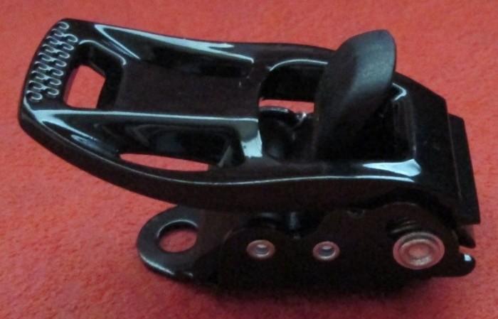 Бакля для сноубордических креплений алюминиевая передняя (чёрная)