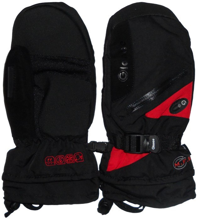Варежки GLANCE Fighter Mitten (black/red)