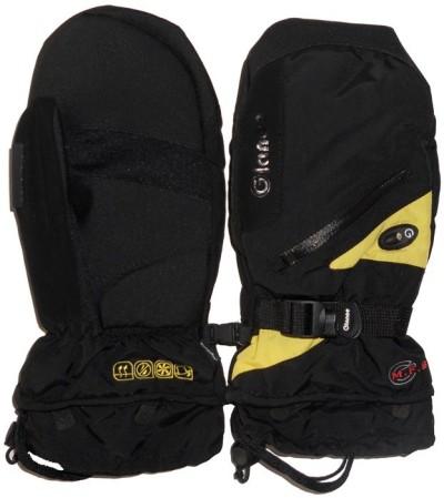 Варежки GLANCE Fighter Mitten (black/yellow)