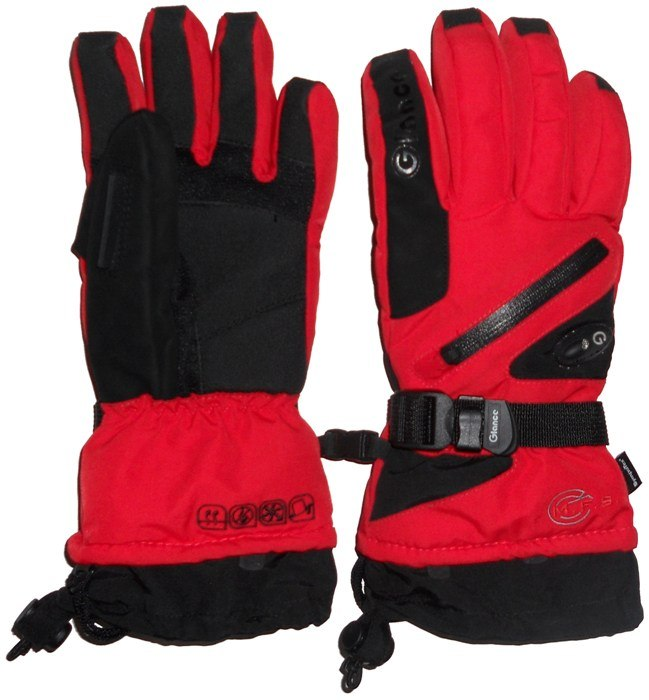 Перчатки GLANCE Fighter (red/black)