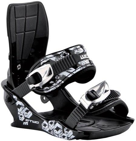 Крепления сноубордические FTWO Pipe black (2012)
