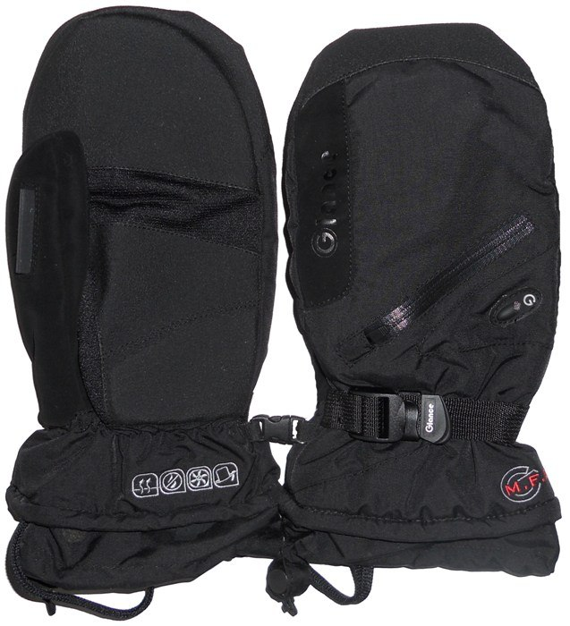 Варежки GLANCE Fighter Mitten (black/black)