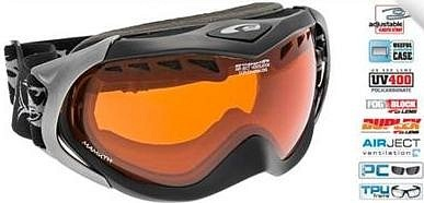 Маска GOGGLE Mamuth (matte black/orange)