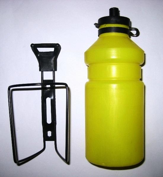 Велофляга с держателем yellow (б/у)