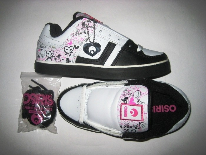 OSIRIS Libra Girls (white/sketchy skull/pink)