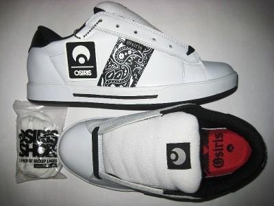 OSIRIS Serve (white/black/bandana)