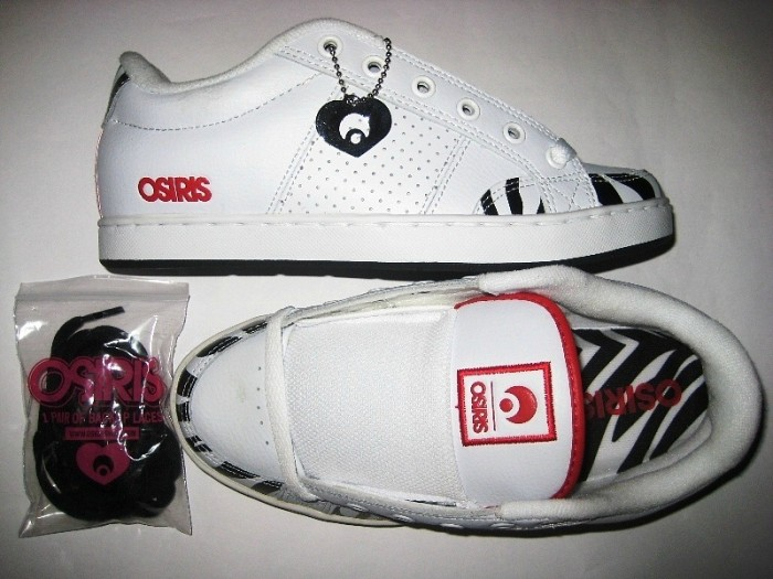 OSIRIS Aries Girls (white/zebra/red)