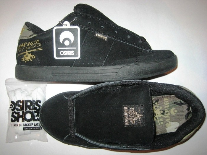 OSIRIS Serve (soldier/black/suede)