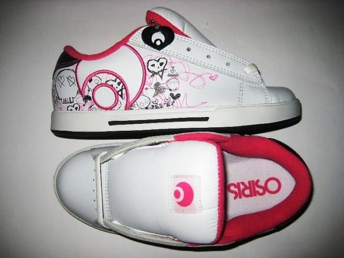 OSIRIS Serve Icon Girls (white/sketchy skull/pink)