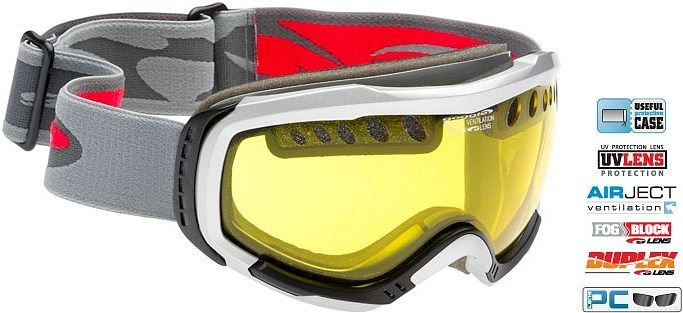 Маска GOGGLE H841 (silver/yellow)