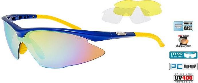 Очки GOGGLE Brend E680-4 (blue/yellow)