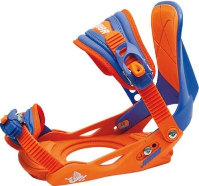 Крепления сноубордические BLACK FIRE Junior orange/blue (2014)