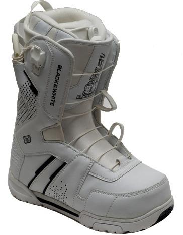 Ботинки сноубордические BLACK FIRE B&W 2QL white (2013)