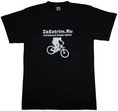 Футболка ZAEXTRIM.RU Bike (black)