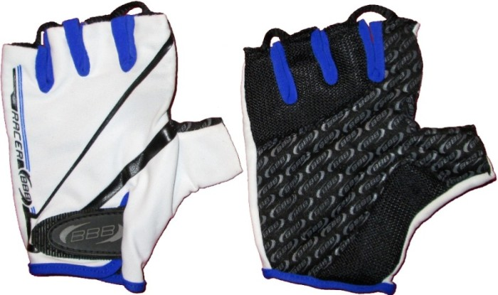 Велоперчатки BBB Racer (white/blue)