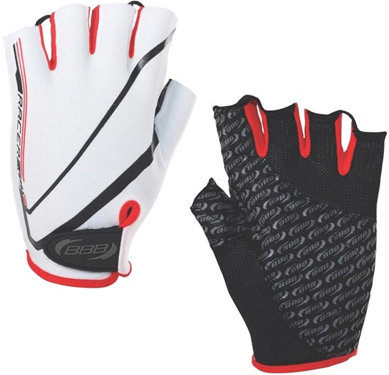 Велоперчатки BBB Racer (white/red)