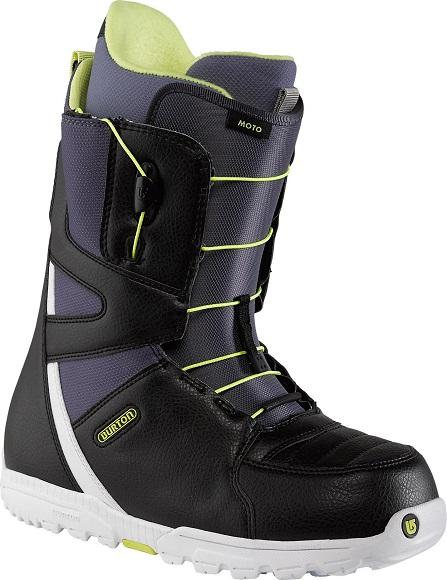 Ботинки сноубордические BURTON Moto black/light blue (2014)