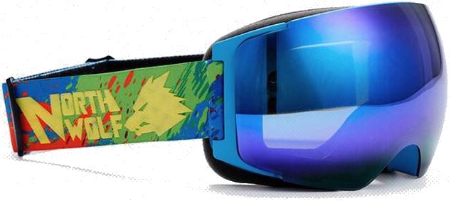 Маска NORTH WOLF NW 522 Blue (с дополнительной линзой)