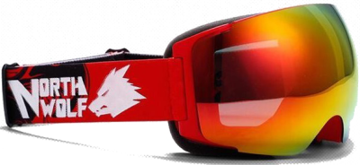 Маска NORTH WOLF NW 522 Red (с дополнительной линзой)