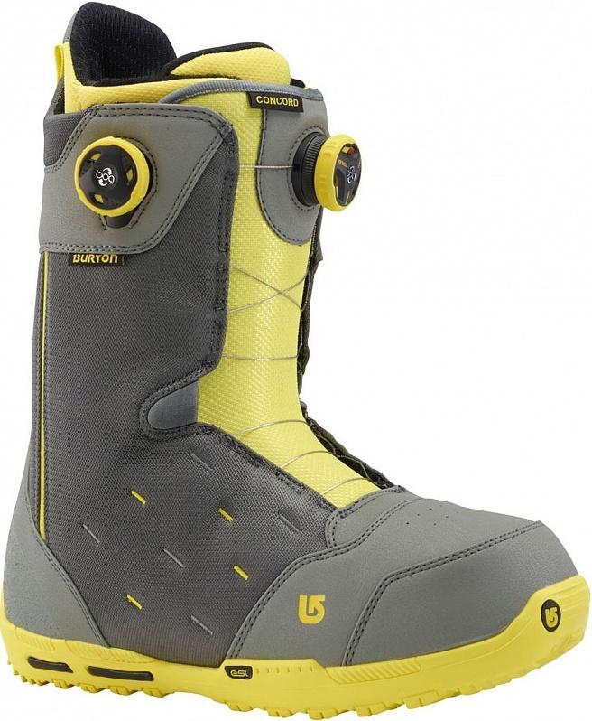 Ботинки сноубордические BURTON Concord Boa gray/yellow (2015)