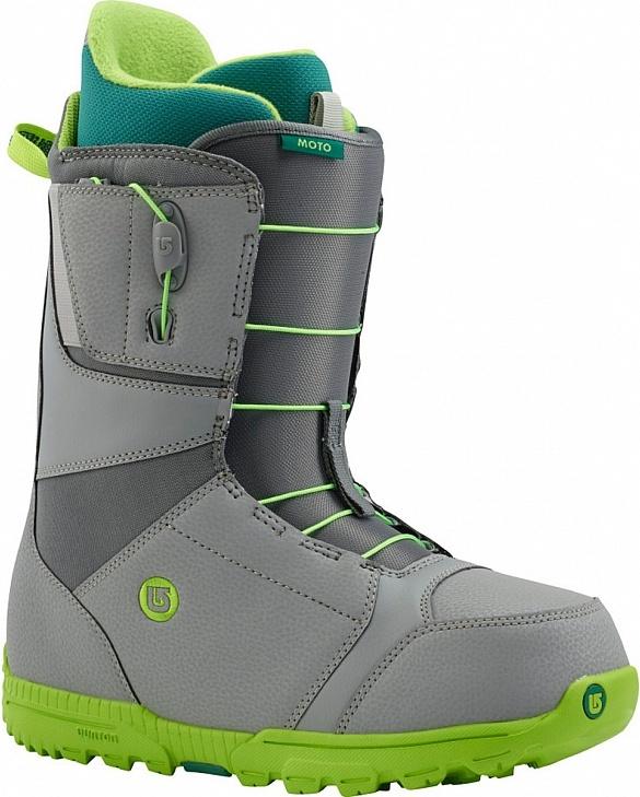 Ботинки сноубордические BURTON Moto gray/green (2015)