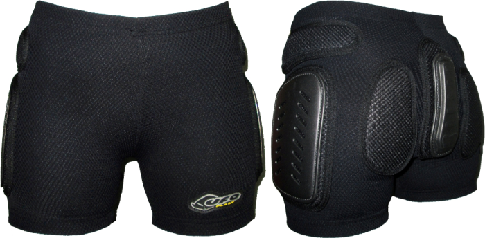 Защитные шорты UFO Padded Plastic Shorts Jr (black)