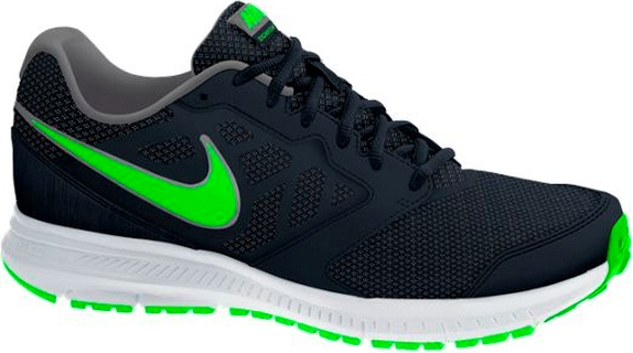 Кроссовки NIKE Downshifter 6 (black/green)