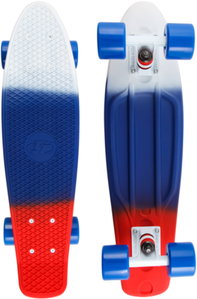 Круизер TECH TEAM Tricolor (white/blue/red)