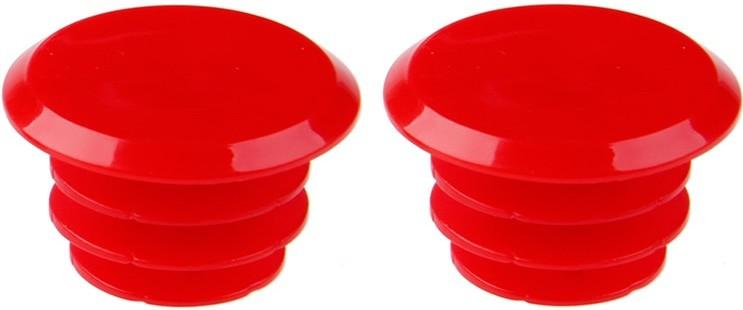 Грипстопы (заглушки) на руль красные