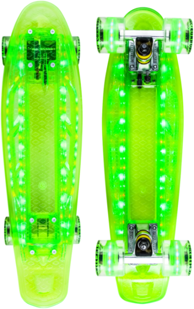 Круизер TECH TEAM Transparent Light (green)
