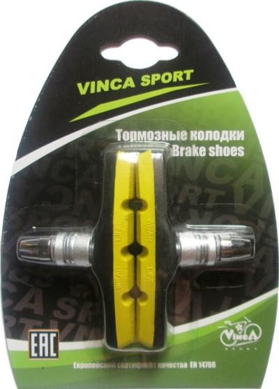 Колодки тормозные VINCA SPORT VB 970 (black/yellow)