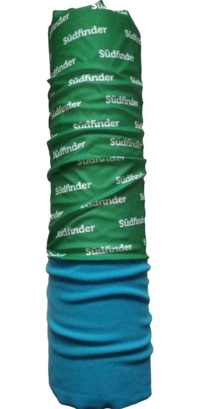 Шарф-труба флис с хлопком однослойный ZAN (blue/green)