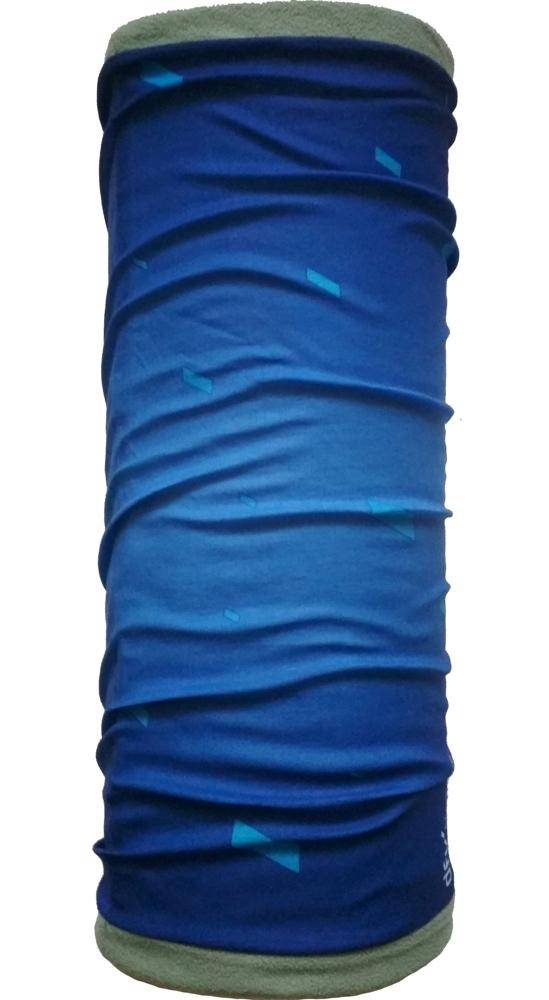 Шарф-труба флис с хлопком двухслойный ZAN (gray/blue)