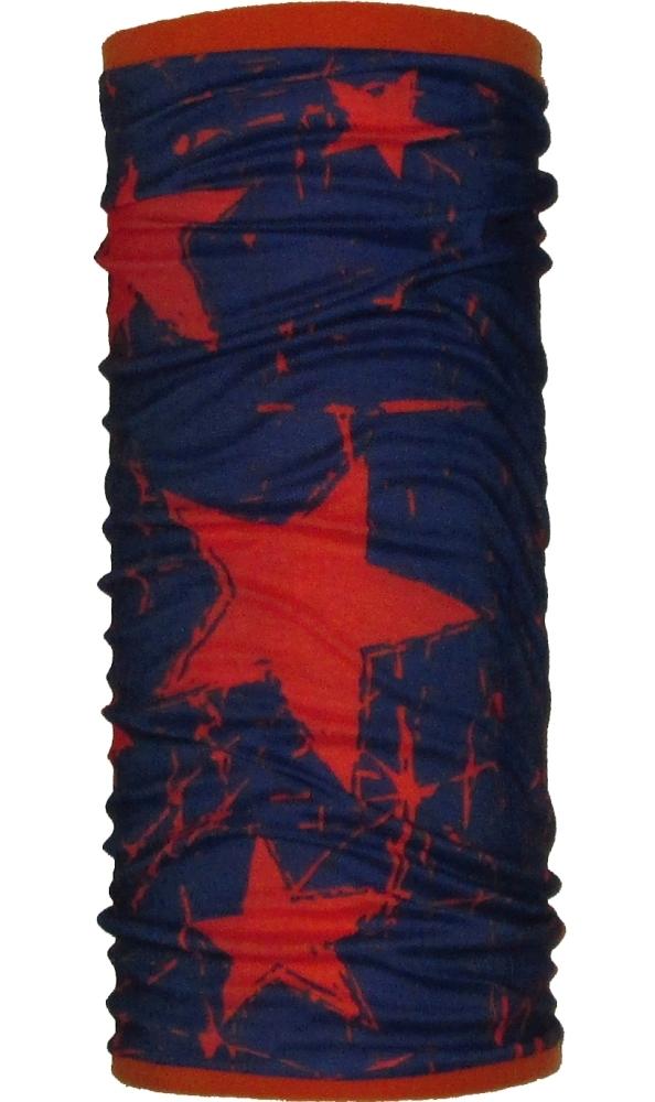 Шарф-труба флис с хлопком двухслойный ZAN (orange/star)