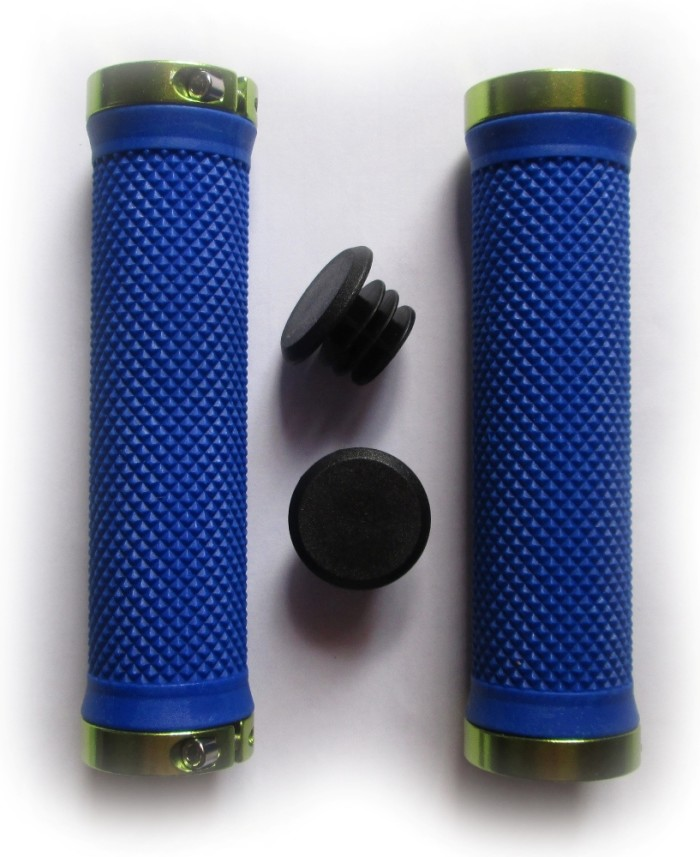 Грипсы VINCA SPORT HG119 с замками Lock-on (blue/green)