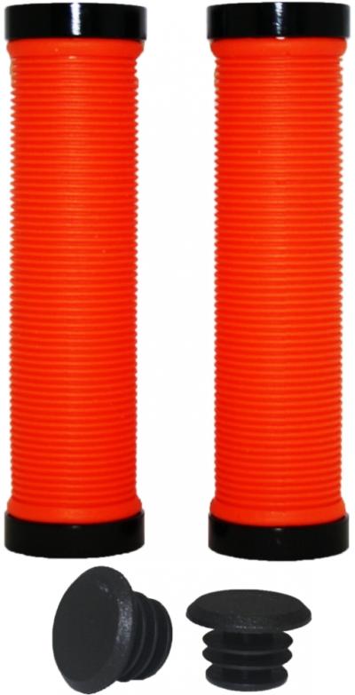 Грипсы VINCA SPORT HG119 с замками Lock-on (orange/black)