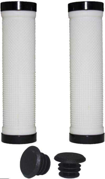 Грипсы VINCA SPORT HG119 с замками Lock-on (white/black)