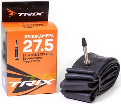 Велокамера TRIX 27.5х1.95/2.125 F/V 48mm (велониппель)