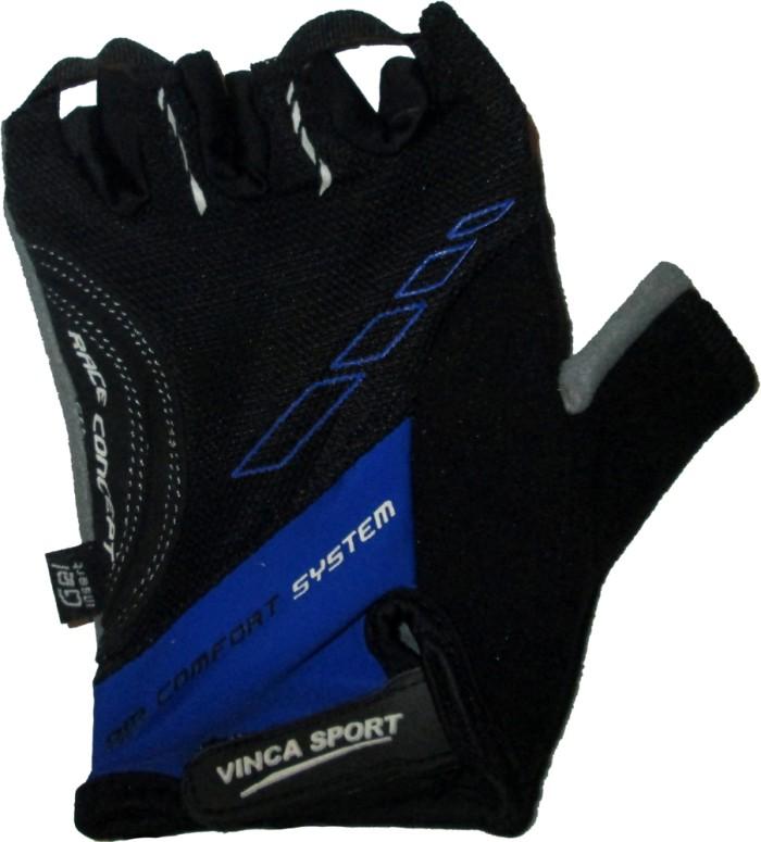 Велоперчатки VINCA SPORT VG 925 (black/blue)